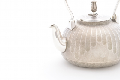999 Pure Silver Kettle - Sizuku (Dripping Water Pattern)